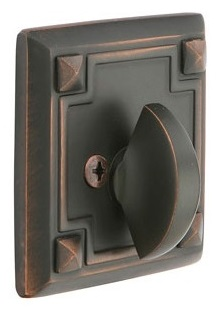 Emtek Arts & Crafts Style Deadbolt - Single Sided