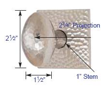 Emtek Hammered Egg Knob Measurements