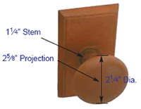 Emtek Jamestown Knob Measurements