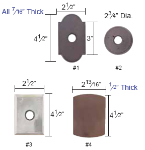Emtek Wrought Steel Rosette Measurements