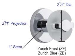 Emtek Zurich Frost Door Knob Measurements