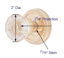 Emtek Astoria Clear Knob Measurements