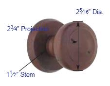 Emtek Butte Knob Measurements