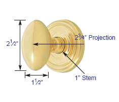Emtek Egg Knob Measurements