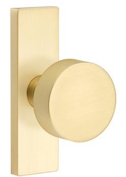 Shop Emtek Round Door Knob with 1.5 Inch  x 5 Inch  Stretto Rosette from Direct Door Hardware on Openhaus