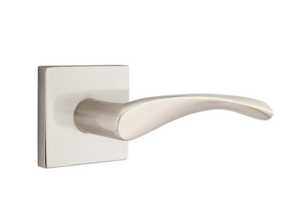 Emtek Triton Modern Lever Handle With Square Rosette Direct Door Hardware