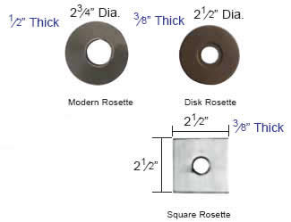 Emtek Modern Rosette Measurements