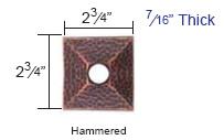 Emtek Hammered Rosette Measurements