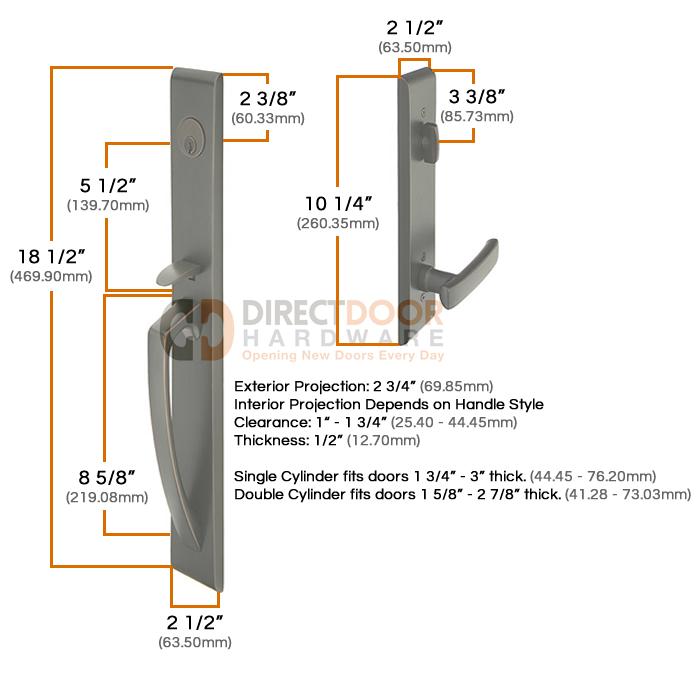 Superieur Emtek Orion Handleset Measurements