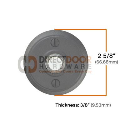 Emtek Wrought Steel Style 2 Doorbell Measurements