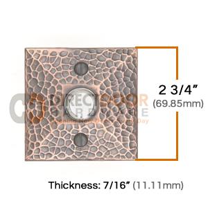 Emtek Brass Hammered Door Bell Cover Rosette Measurements