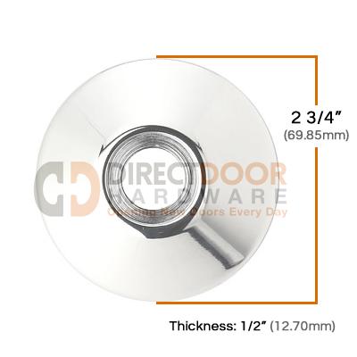 Emtek Brass Modern Door Bell Cover Measurements