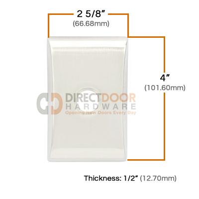 Emtek Brass Neos Door Bell Cover Measurements