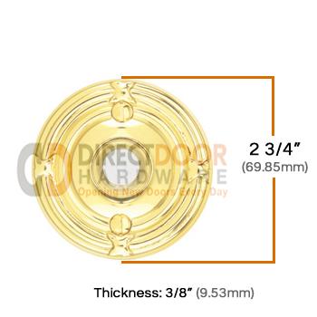 Emtek Brass Ribbon & Reed Door Bell Cover Measurements