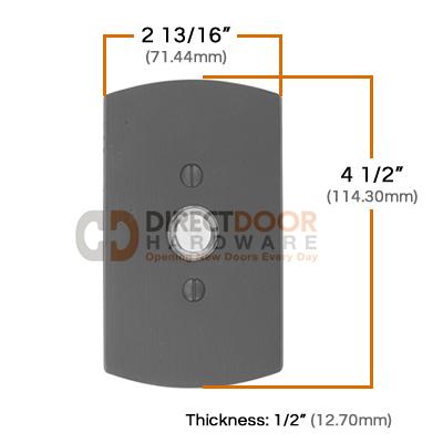 Emtek Sandcast Style 4 Doorbell Measurements