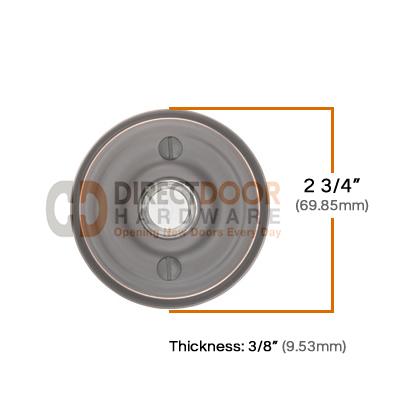 Emtek Emtek Brass Regular Door Bell Cover Measurements