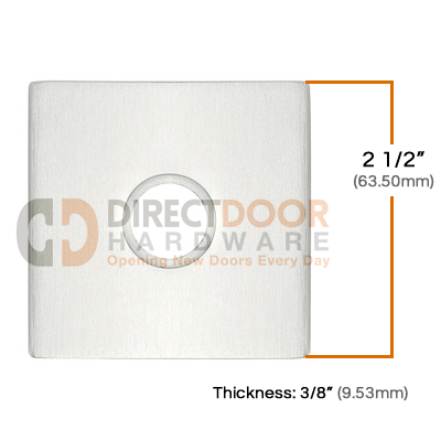 Emtek Brass Square Door Bell Cover Measurements