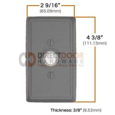 Emtek Wrought Steel Style 3 Doorbell Measurements