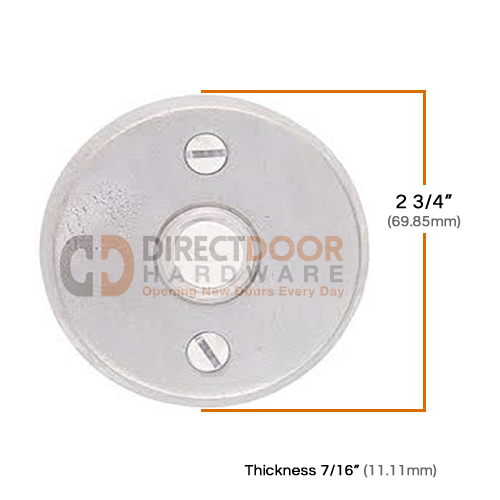 Emtek Sandcast Style 2 Doorknob Measurements
