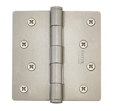 Emtek 4 Inch Residential Duty Door Hinges with 1/4 Inch Round Corners -Steel  (pair)