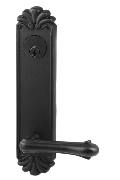 Emtek Lost Wax #16 (10 1/8 Inch) KEYED Sideplate Lock for 5 1/2 Inch Bore