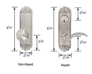 Emtek Lost Wax #16 Style Sideplate Lock Specs