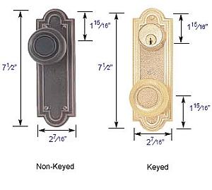 "Emtek Belmont 3 5/8"" Bore Sideplate Lock Specs"