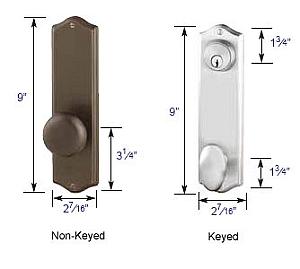 """Emtek Colonial 5 1/2"""" Bore Sideplate Lock Specs"""