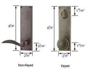 Emtek Sandcast Rectangular Sideplate Lock Specs