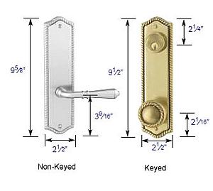 """Emtek Rope 5 1/2"""" Bore Sideplate Lock Specs"""