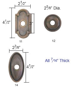 Emtek Lost Wax Cast Bronze Rosette Measurements