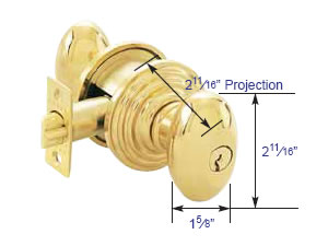 Emtek Keyed Egg Knob Measurements