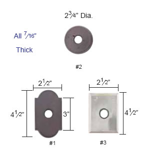 Emtek Wrought Steel Rosette Measurements
