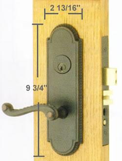 Emtek Hamilton Mortise Sideplate Locks