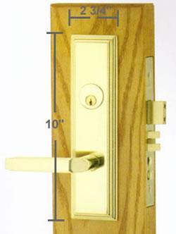 Emtek Manhattan Mortise Sideplate Locks