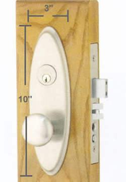 Emtek Memphis Mortise Sideplate Locks