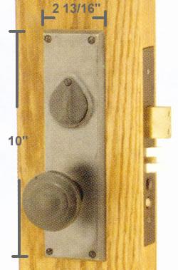Emtek Rectangular Mortise Sideplate Locks