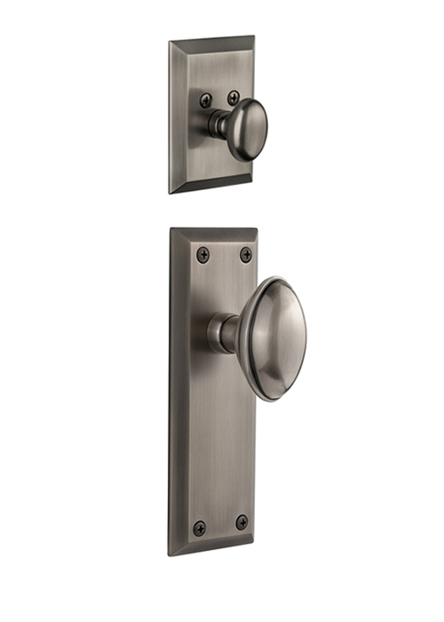 Grandeur Fifth Avenue Handleset with Eden Prairie Knob - (Interior Half Only, with Deadbolt)
