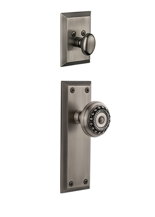 Grandeur Fifth Avenue Handleset with Parthenon Knob - (Interior Half Only, with Deadbolt)