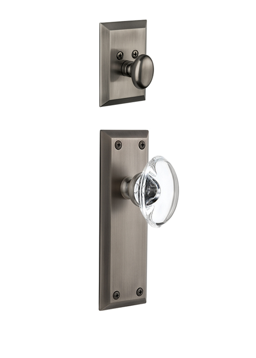 Grandeur Fifth Avenue Handleset with Provence Knob - (Interior Half Only, with Deadbolt)