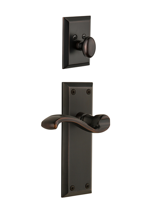 Grandeur Fifth Avenue Handleset with Portofino Lever - (Interior Half Only, with Deadbolt)