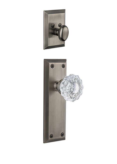 Grandeur Fifth Avenue Handleset with Versailles Knob - (Interior Half Only, with Deadbolt)