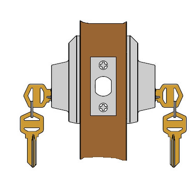 It Is Keyed Both Inside And Outside Double Cylinder Locks On Residences Or Any Door Which Used For Egress Are A Life Safety Hazard