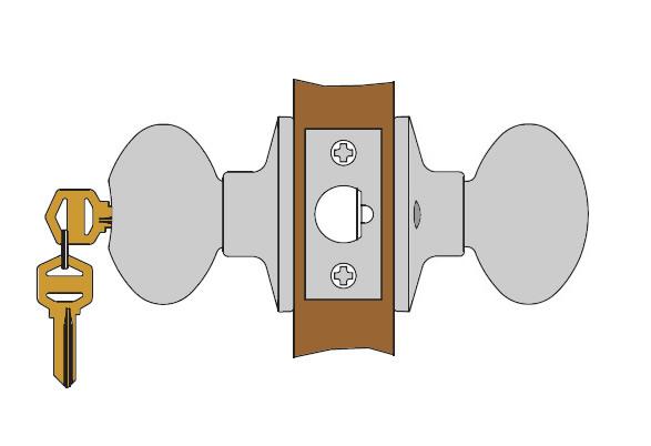 Schlage Storeroom Knob Function