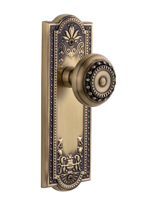Lifetime Brass Grandeur Georgetown Rosette with Parthenon Knob Double Dummy