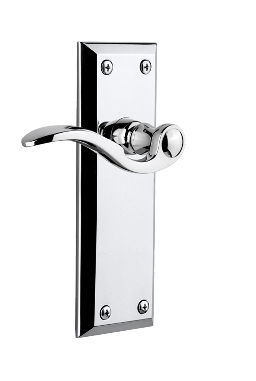 Grandeur Fifth Avenue Plate with Right Handed Bellagio Lever Satin Nickel Single Dummy