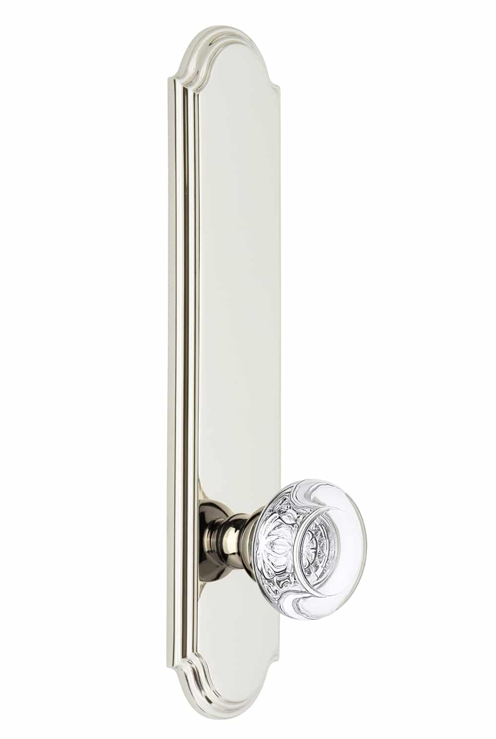 Grandeur Arc Tall Plate with Bordeaux Knob