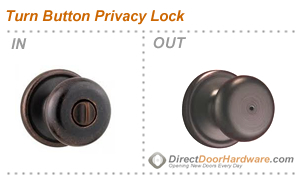 Privacy Lock With Turn Button