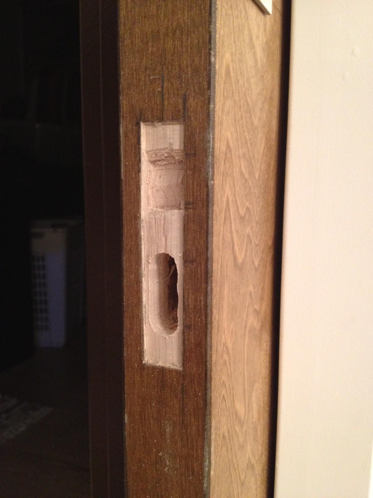 Installing And Emtek Edge Pull Step 4