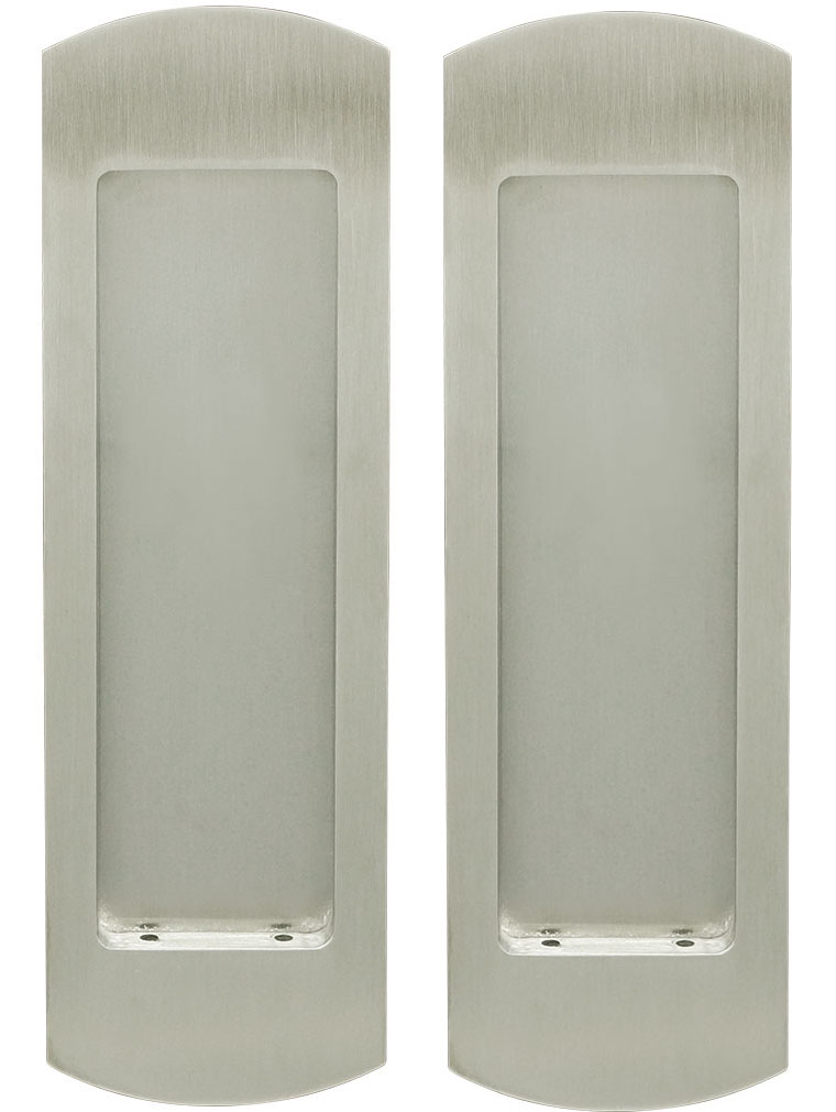 Inox Pocket Door Dummy Pair, FH29 Linear Flush Pull
